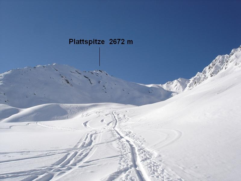 Plattspitze in Vals 2672 m