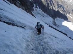 Beim Aufstieg über den Gletscher