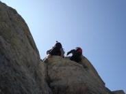Heikler Abstieg nach dem Gipfel