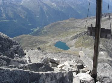 Der Waldnersee vom Gipfel gesehen