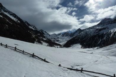 Der Talschluss beim Eishof, hinten die Hohe Weiße