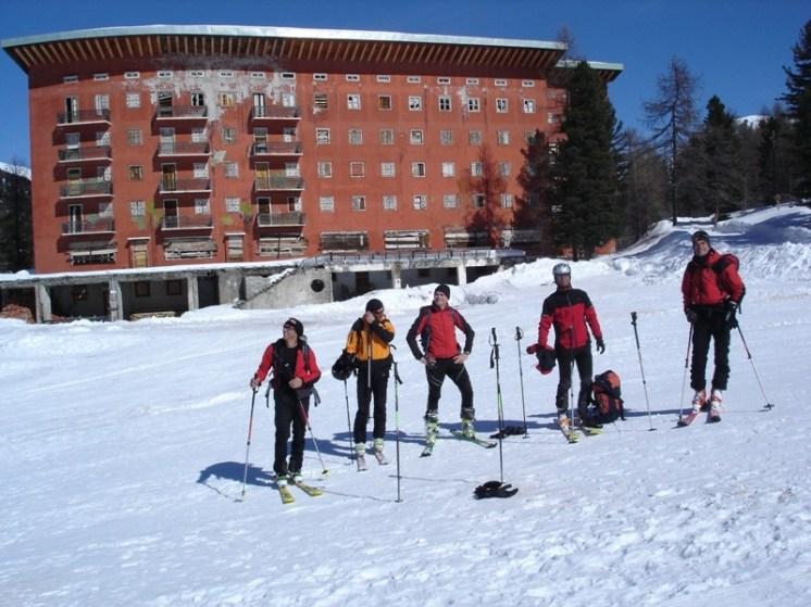 Skitourenkollegen, mit denen wir abgefahren sind