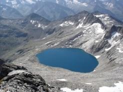 Der Eissee vom Gipfel aus gesehen