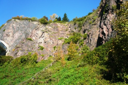 Sicht auf den Klettersteig