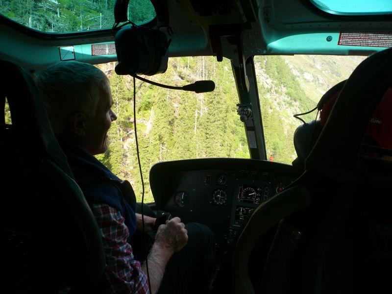 Versorgungsflug Becherhaus (3195m)