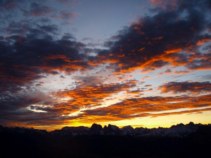 Rittner Horn Sonnenaufgang