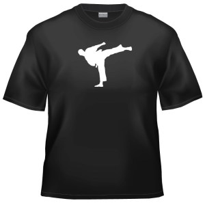 Karate silhouette t-shirt