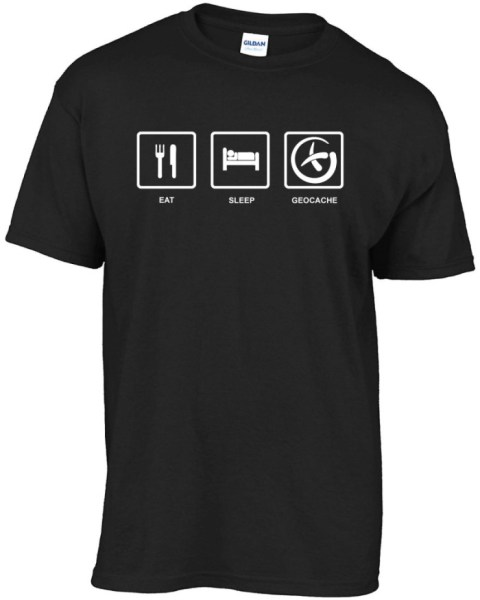 eat-sleep-geocache t-shirt