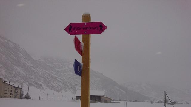 Winterwanderweg Andermatt- Hospental