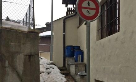 Abkürzung Staltenweg ab sofort geschlossen