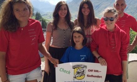 AndermattLive! spendet dem Skiclub Gotthard Andermatt
