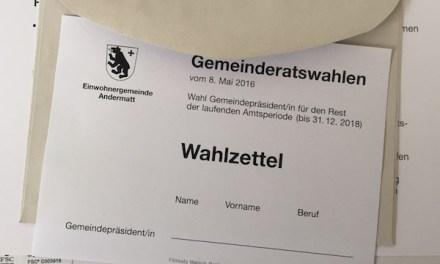 Kampfwahl um den Gemeindepräsident in Andermatt – jetzt wird es doch noch spannend!