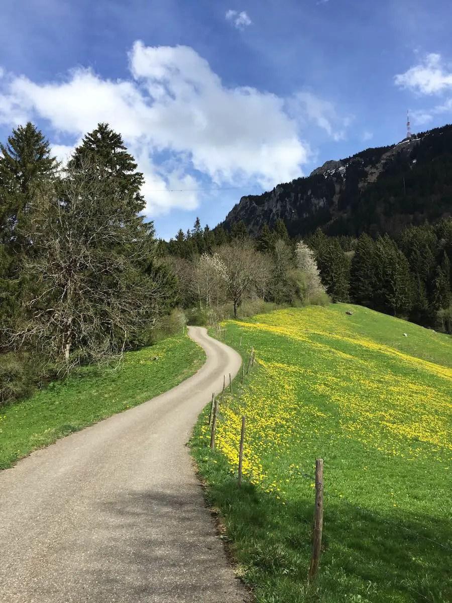 Anfahrt zur Alpe Kalköf