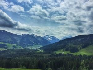 Auf der Alpe Osterberg, Blick Richtung Kleinwalstertal