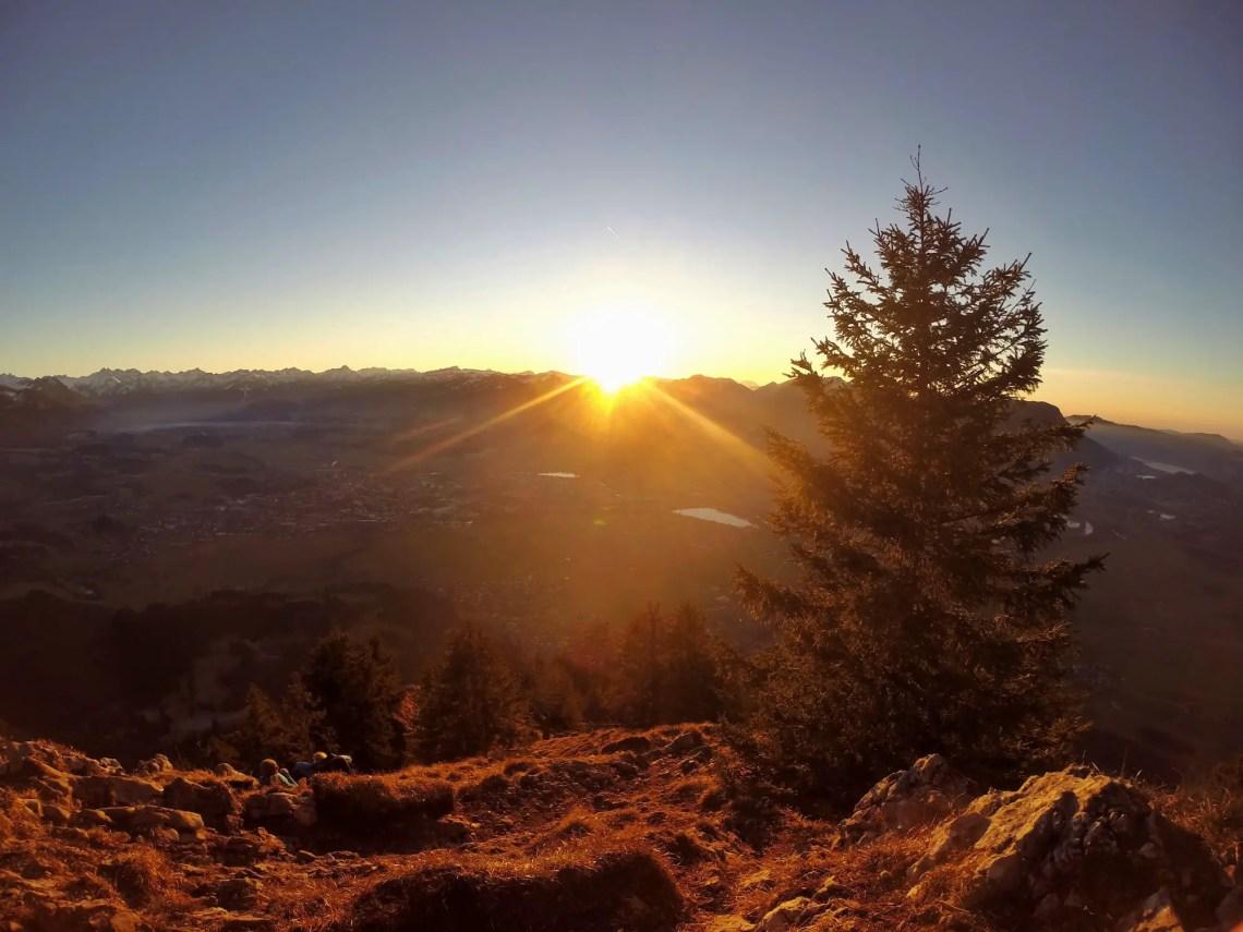 Sonnenuntergang auf dem Burgberger Hörnle