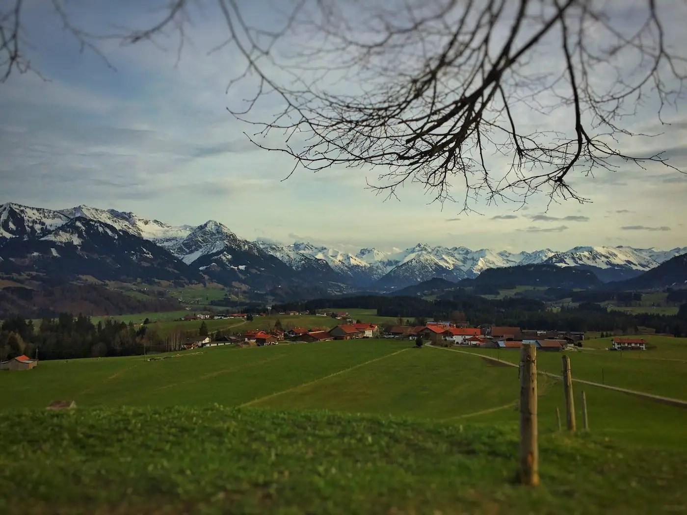 Wittelsbacher Höhe in Richtung Oberstdorf