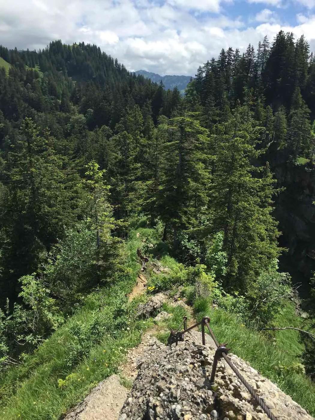 Steiganlage zwischen Hochhäderich und Falken