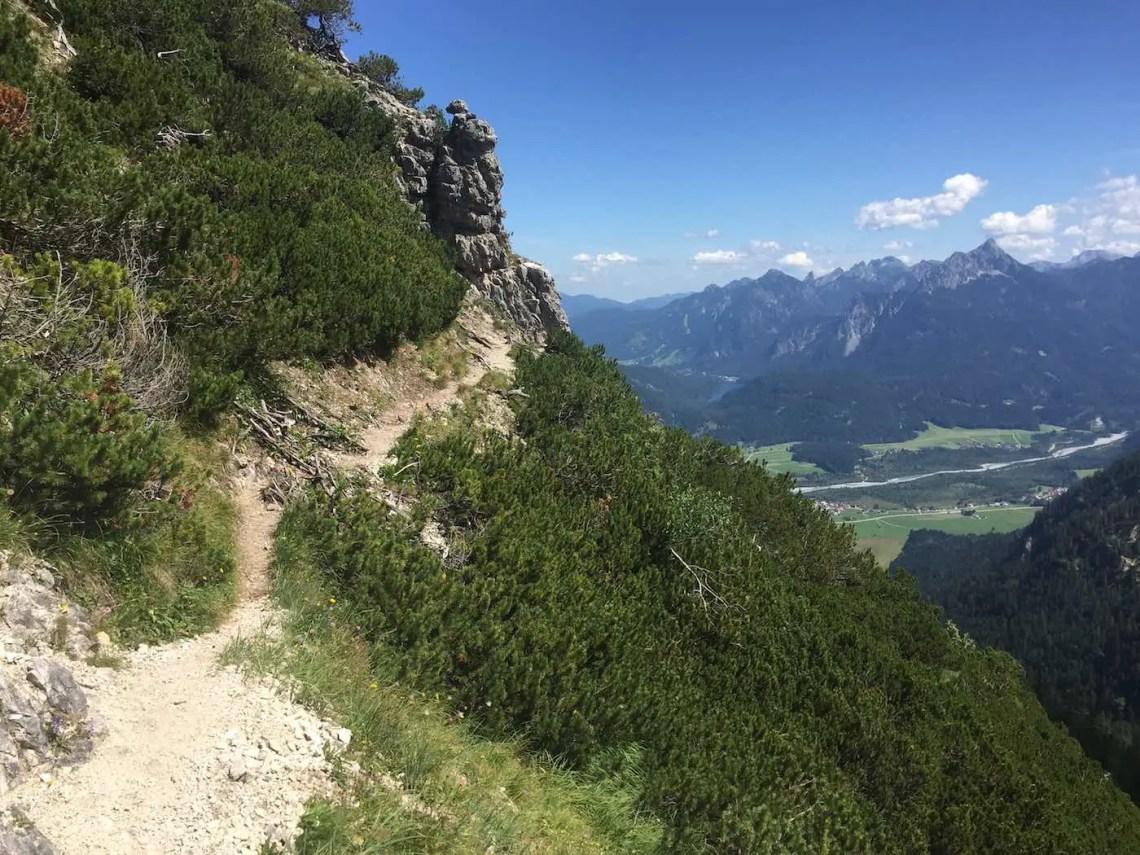 Aufstieg zum Vilser Kegel - Gipfelbereich