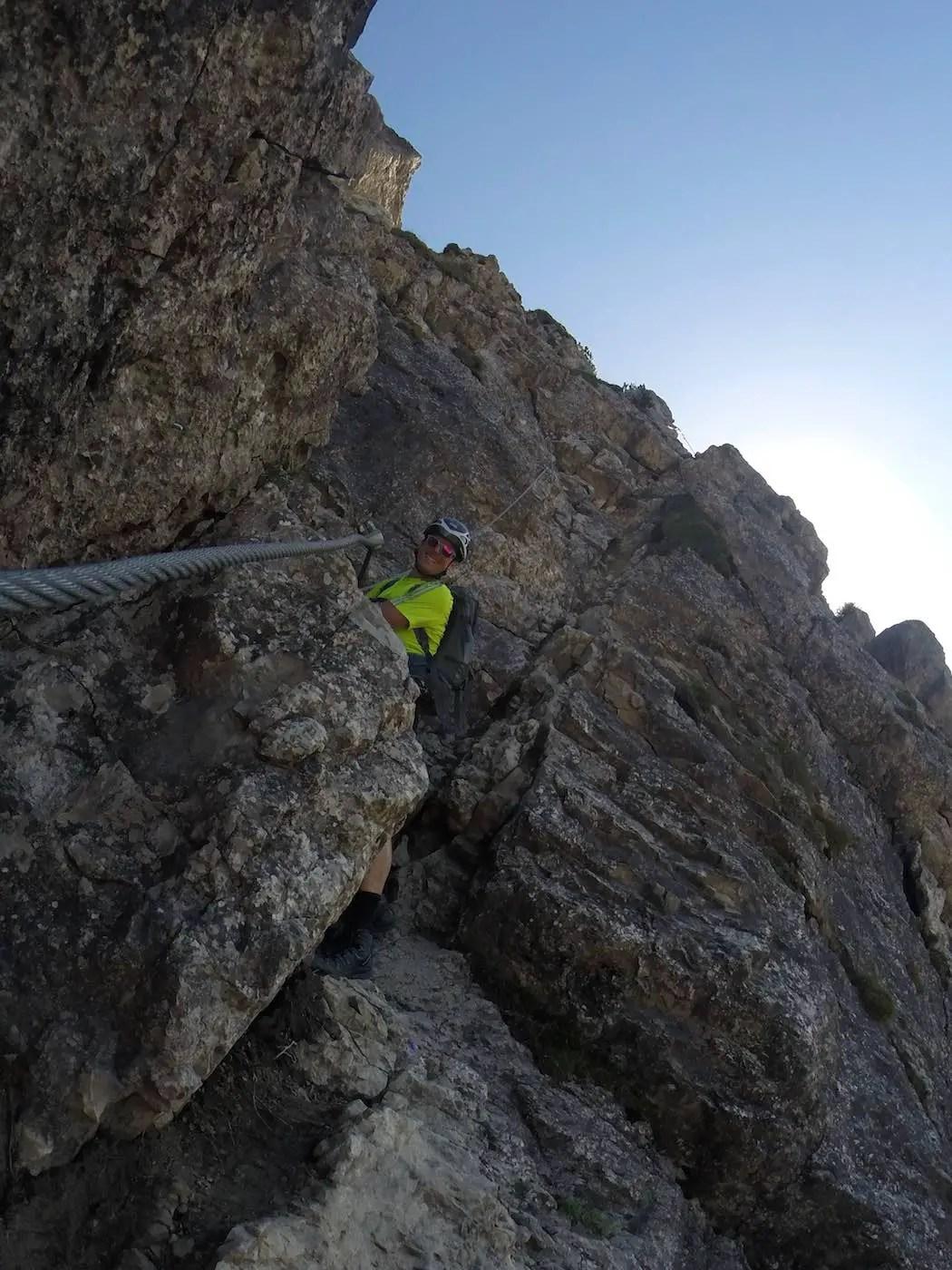 Im zweiten Abschnitt des Salewa Klettersteig