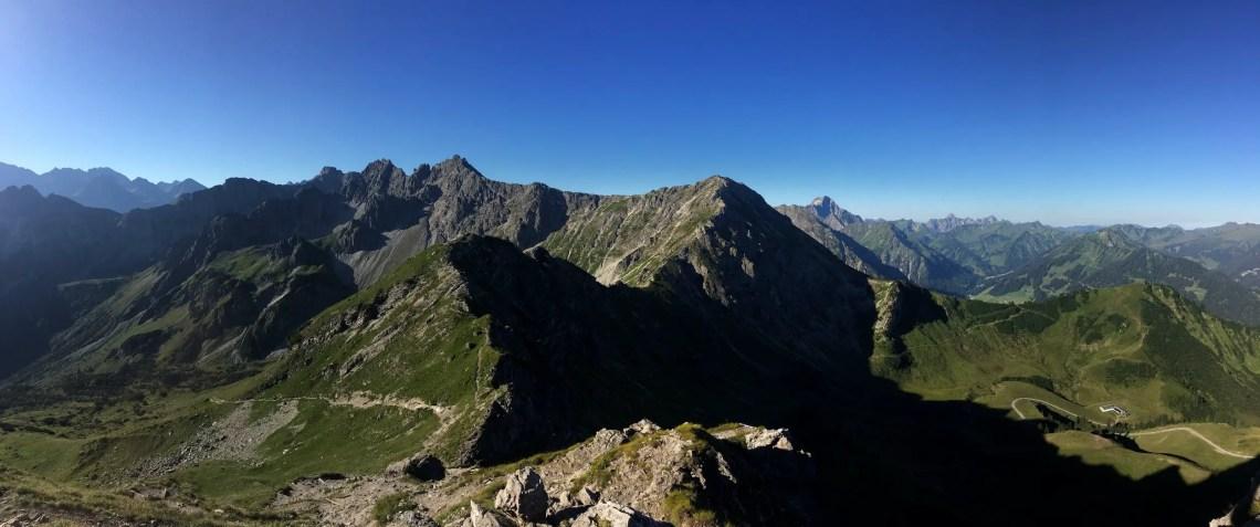 Panoramablick von der Kanzelwand