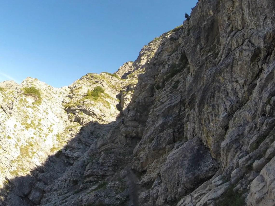 Salewa Klettersteig - die ersten Meter