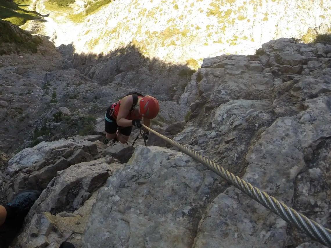 Salewa Klettersteig oberhalb Oberjoch
