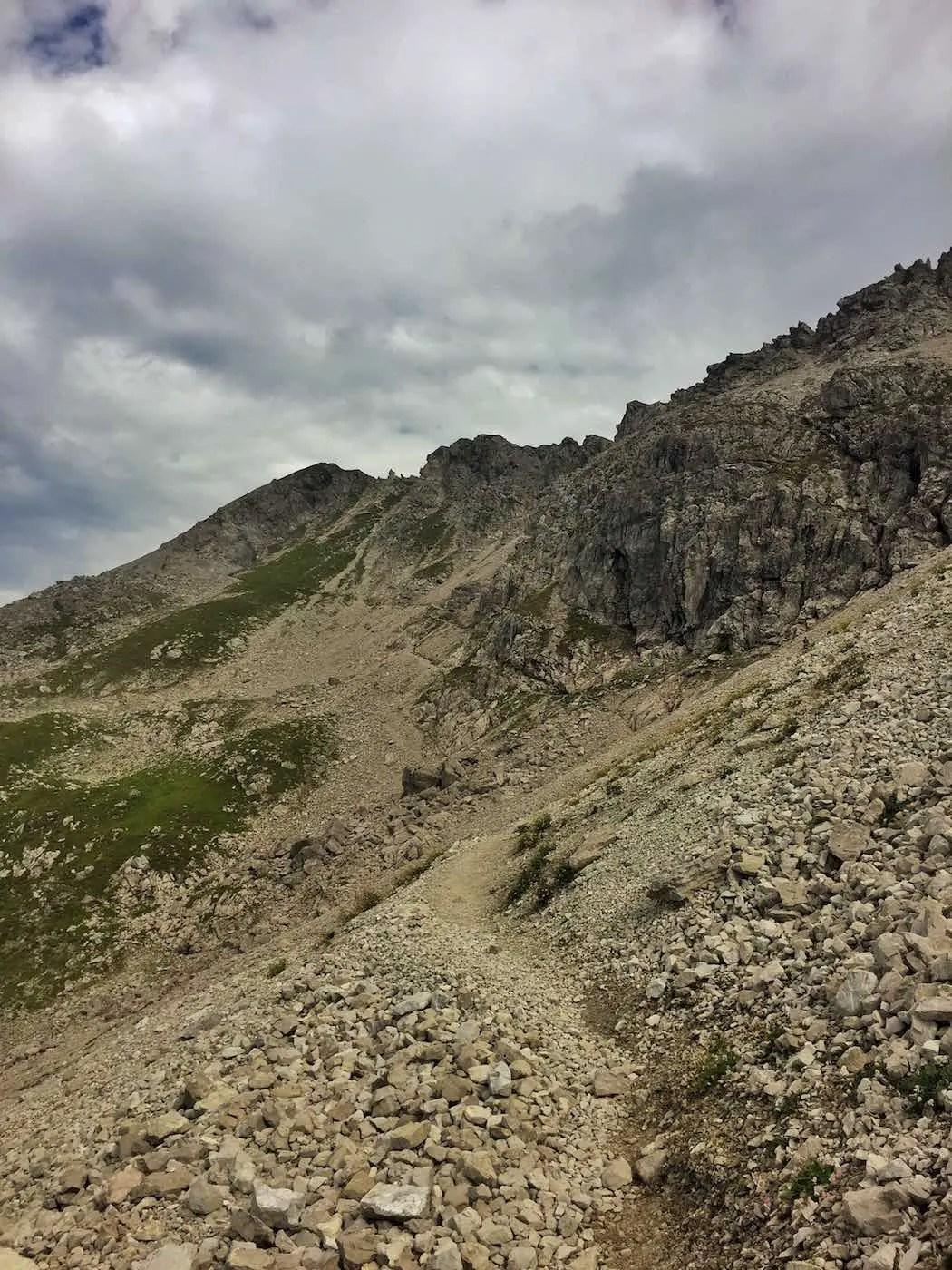 Aufstieg in Richtung Mindelheimer Klettersteig