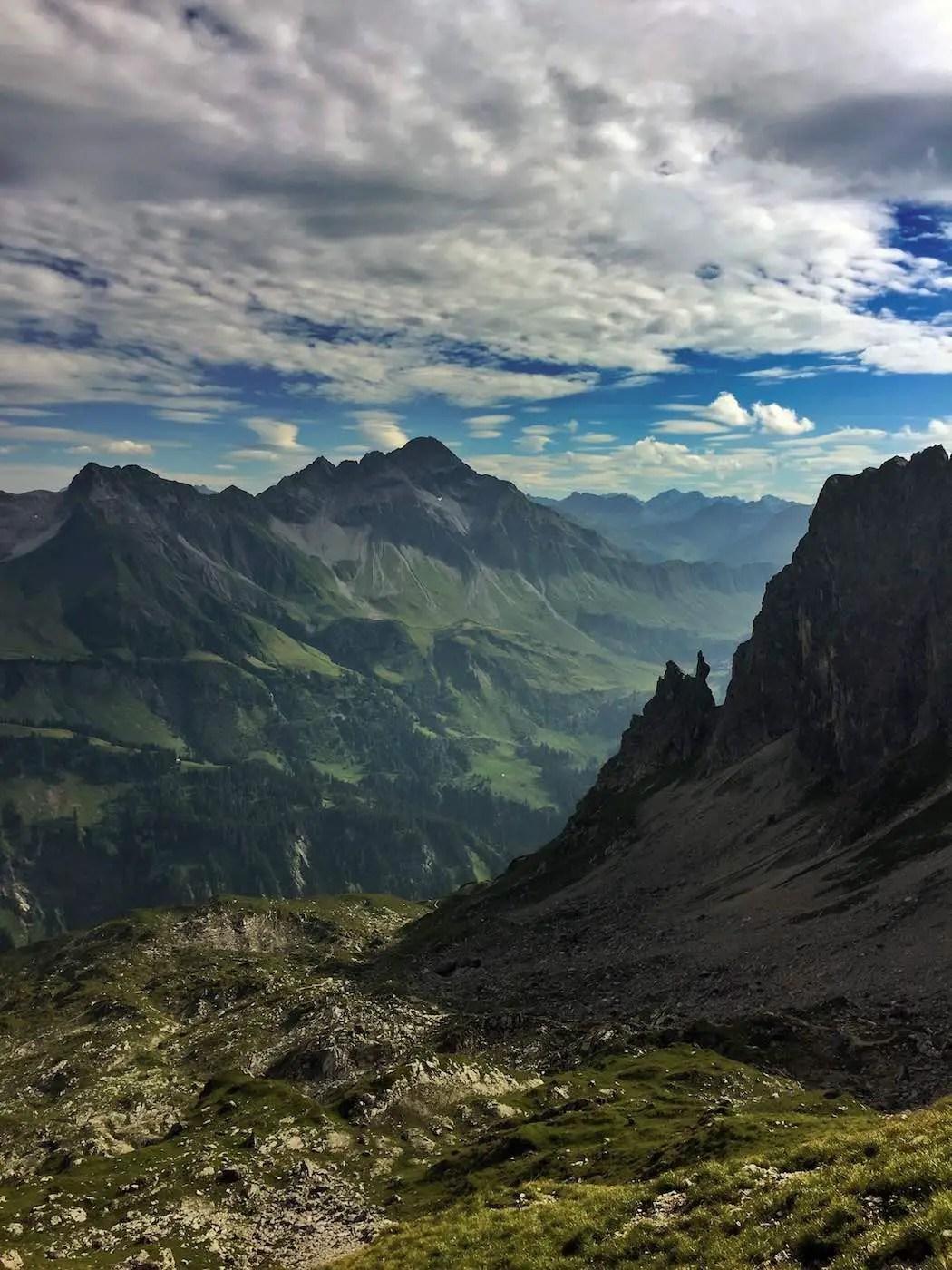 Biberkopf vom Einstieg zum Mindelheimer Klettersteig