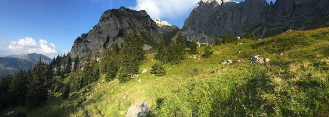 Panorama unterhalb der Kellenspitze