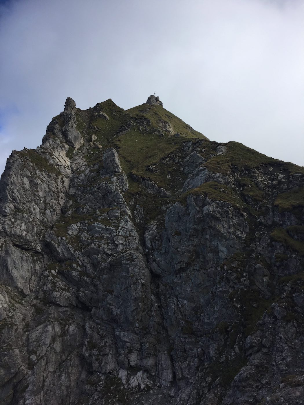 Blick vom Aufstieg zur Scharte Richtung Kempterle