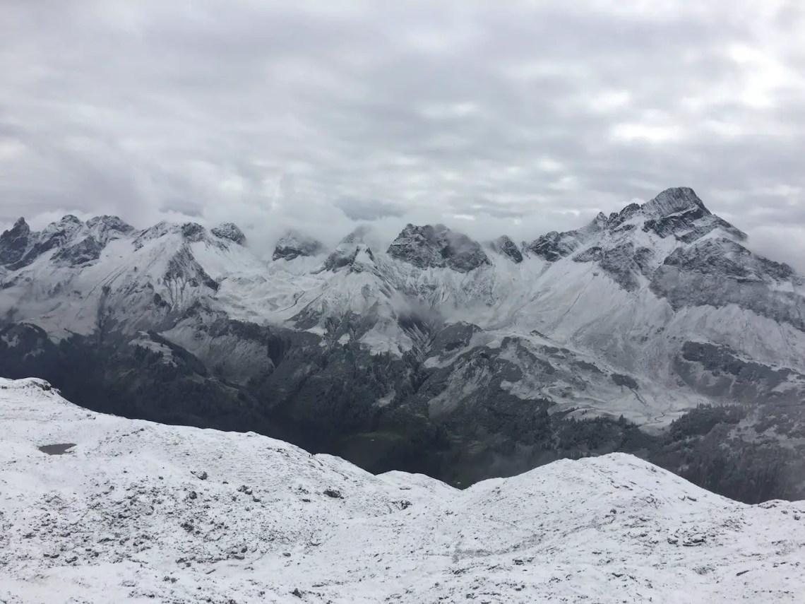 Blick zu Biberkopf und ins Rappenalptal