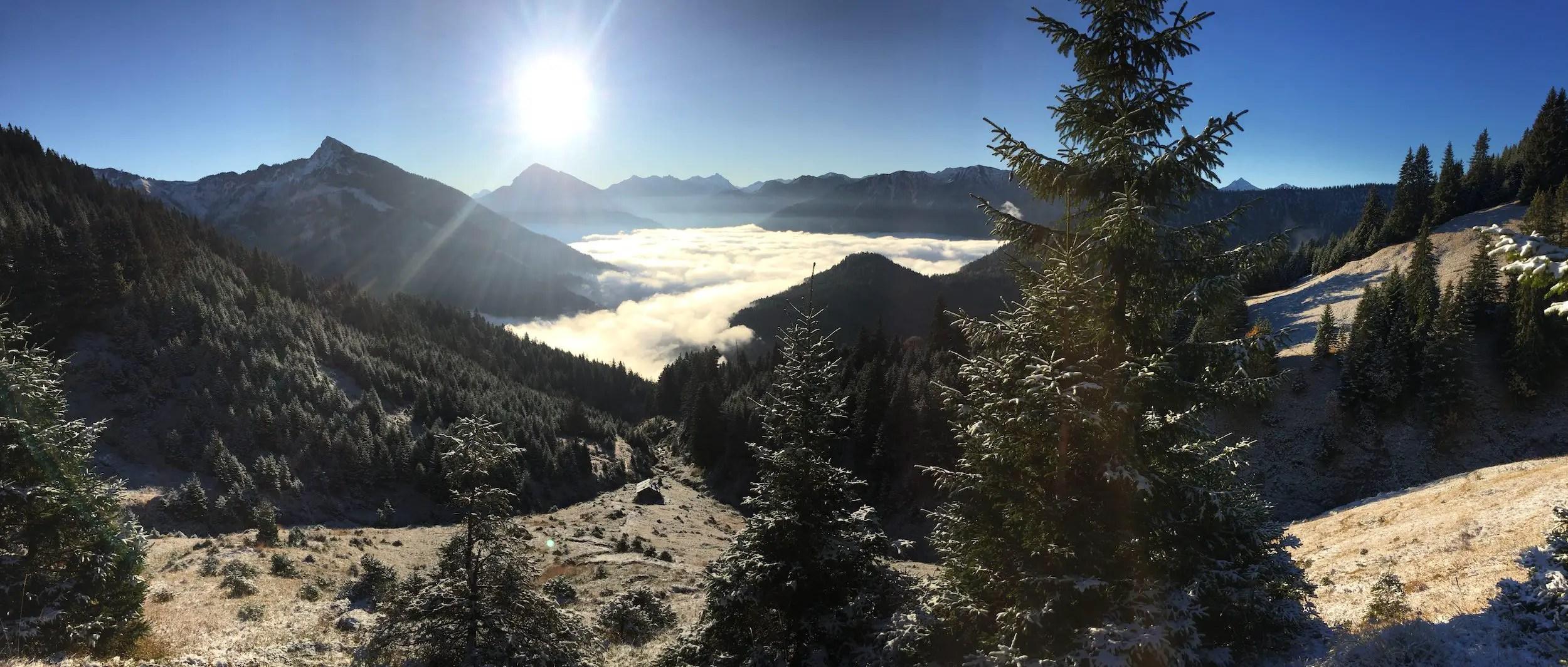 Panorama vom Aufstieg zur Krinnenspitze