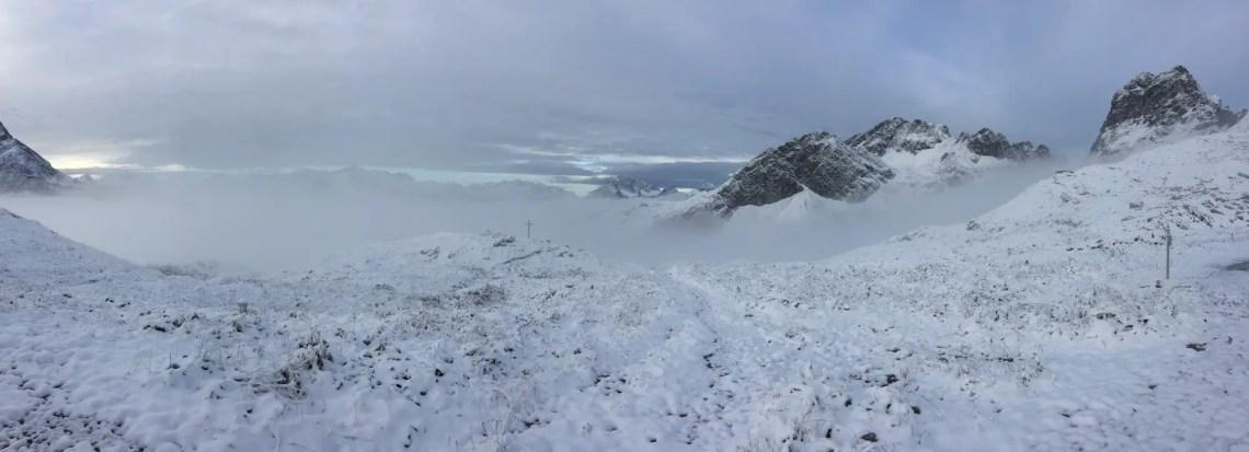 Winterpanorama an der Mindelheimer Hütte