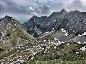 Abstieg zur Lamsenjochhütte