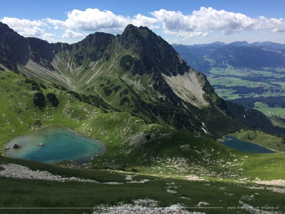Abstieg zu den Seen