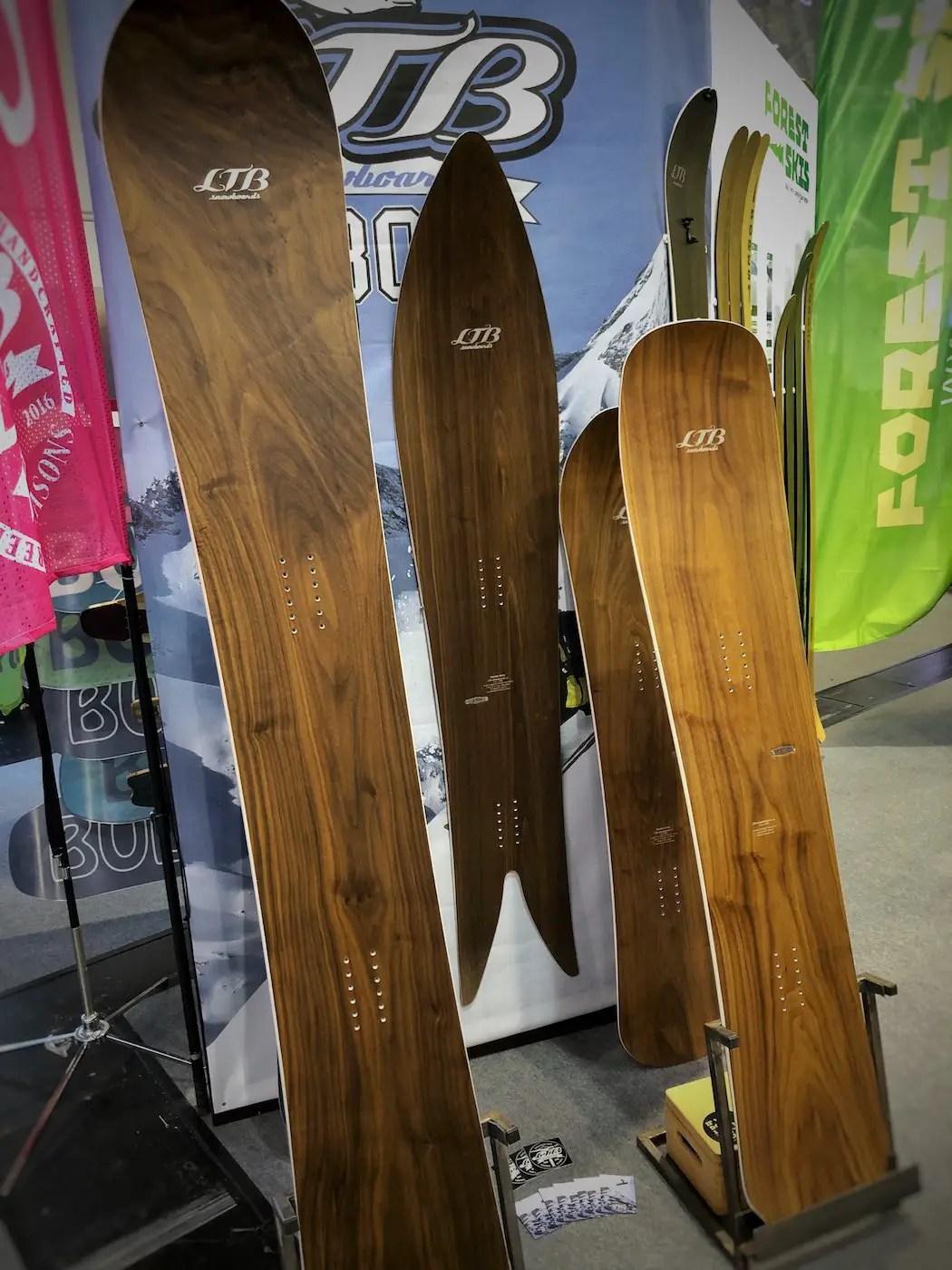 Holz ist ein Thema im Ski- und Snowboard-Sport