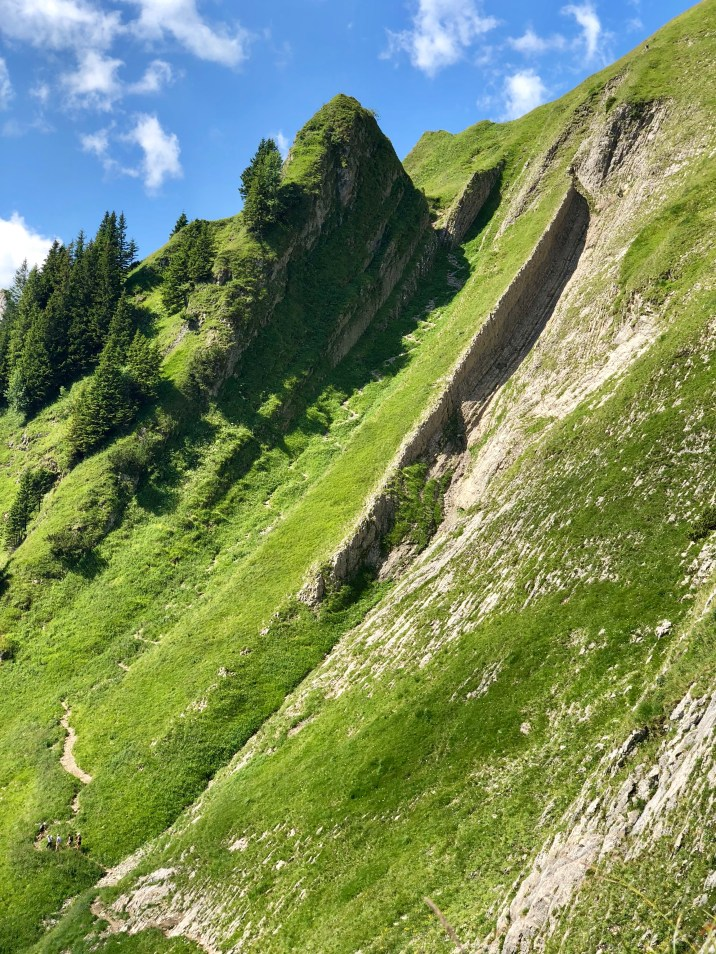 Ab hier beginnt die alpine Route.