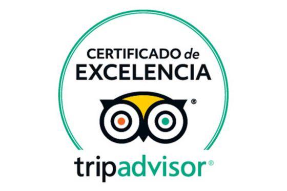 TripAdvisor Certificado excelencia BeRider