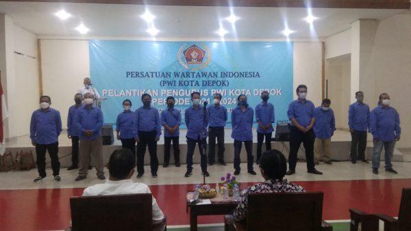 Usai Dilantik, Rusdi Nurdiansyah Akan Gelar Uji Kompetensi dan Benahi Fasilitator PWI Depok