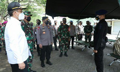 Penanganan Covid-19 di Bangkalan, Panglima TNI, Kapolri dan Menkes Beri Semangat Petugas