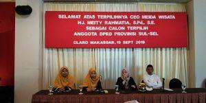 24 September 2019, CEO Meida Wisata Dilantik Jadi Anggota DPRD Sulsel