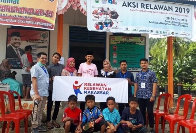 Baksos Relawan KSR PMI Unhas bekerja sama dengan Pemerintah Desa Lambuno kec.katoi kab.kolaka utara 28-30 Juni 2019
