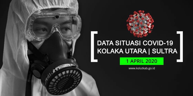 Data Situasi Covid-19 Kolaka Utara 1 April 2020 & Data Realtime Situasi Global