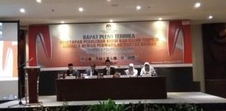 Rapat Pleno terbuka penetapan perolehan kursi dan Caleg Terpilih DPRD Gowa di Hotel Four Point by Sheraton, Makassar. (BERITA.NEWS/ACP).