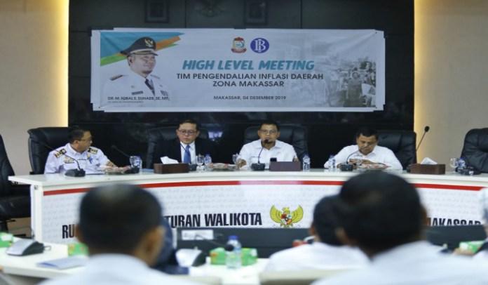 Rapat High Level Meeting Tim Pengendalian Inflasi Daerah (TPID) Zona Kota Makassar. (BERITA.NEWS/Ratih Sardianti Rosi).