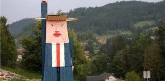 Patung kayu Trump