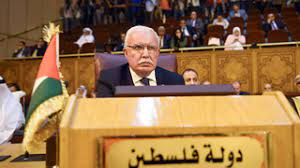 Menteri Luar Negeri Palestina Riyad al-Maliki saat pertemuan Liga Arab di Kairo pada 2018 Foto: AFP