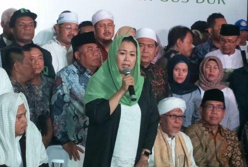 Yenny Wahid saat nyatakan dukungannya kepada Jokowi-Ma'ruf.