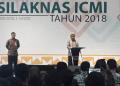 Wapres Jusuf Kalla saat memberi sambutan pada acara penutupan Silaknas ICMI.