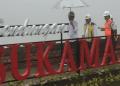Jokowi tinjau proyek pembangunan bendungan Sukamahi.